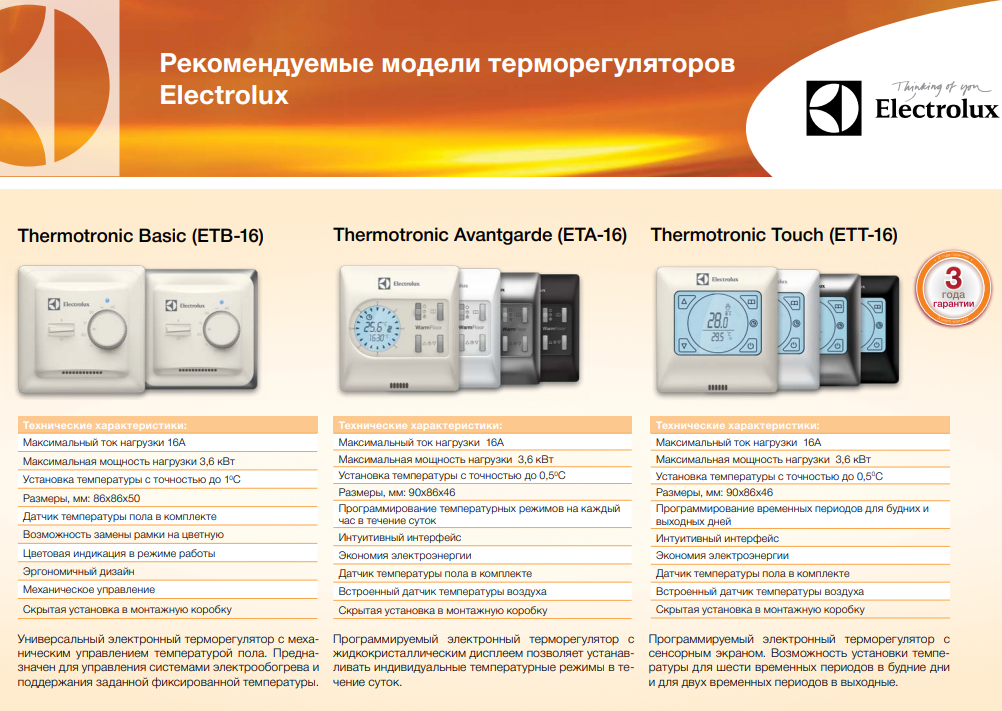 Выбрать терморегулятор тёплого пола